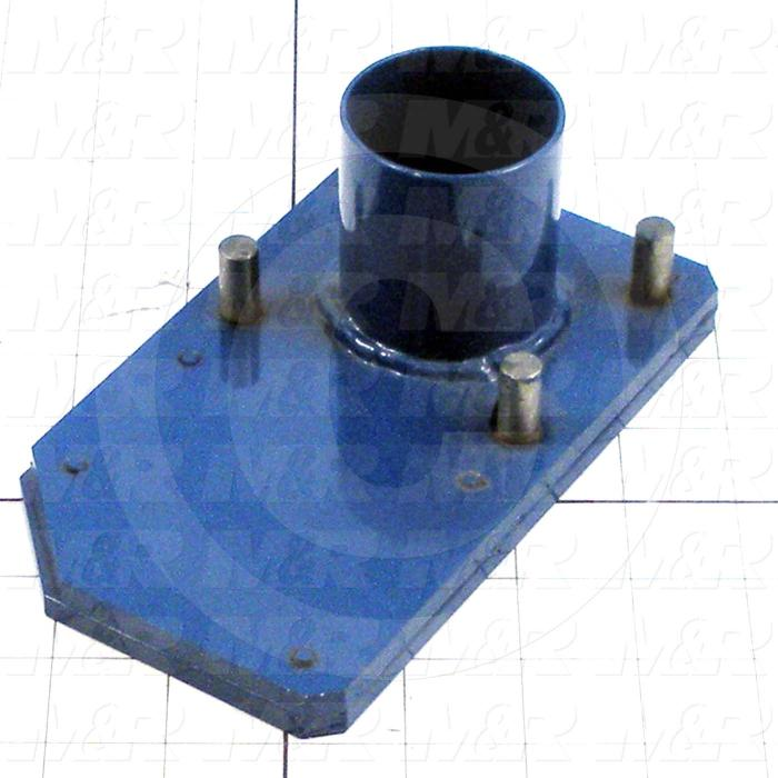 Fabricated Parts, Valve Slide Plate, 6.88 in. Length, 4.00 in. Width, 0.23 in. Height