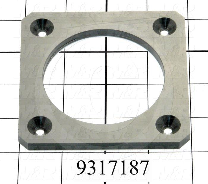 Fabricated Parts, Valve Slider Plastic Plate, 4.00 in. Length, 4.00 in. Width, 1/4 in. Thickness