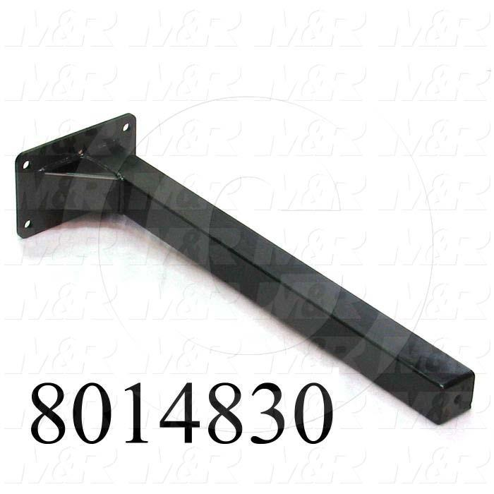 Fabricated Parts, Vert Tube Weldment, 26.38 in. Length, 7.75 in. Width, 5.00 in. Height, Coating Powder Black Finish