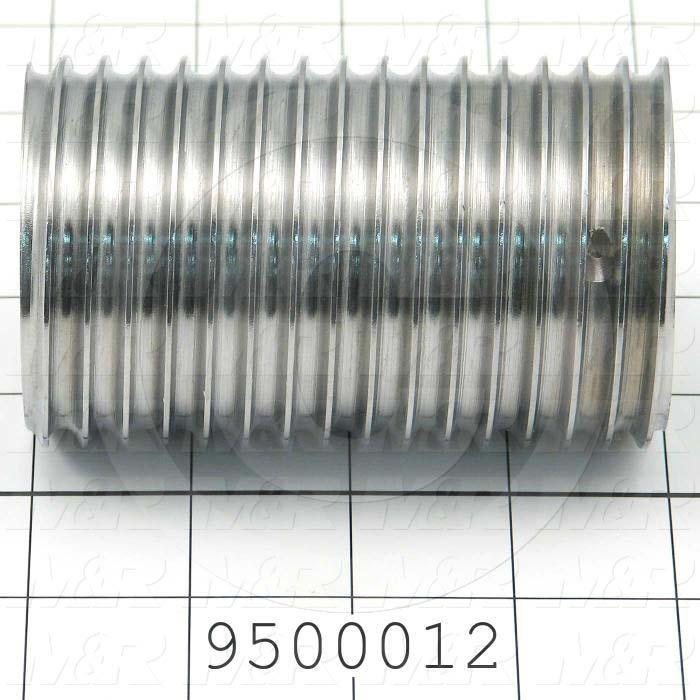 Fabricated Parts, Vertical Drive Left Spool, 4.00 in. Length, 1.75 in. Diameter