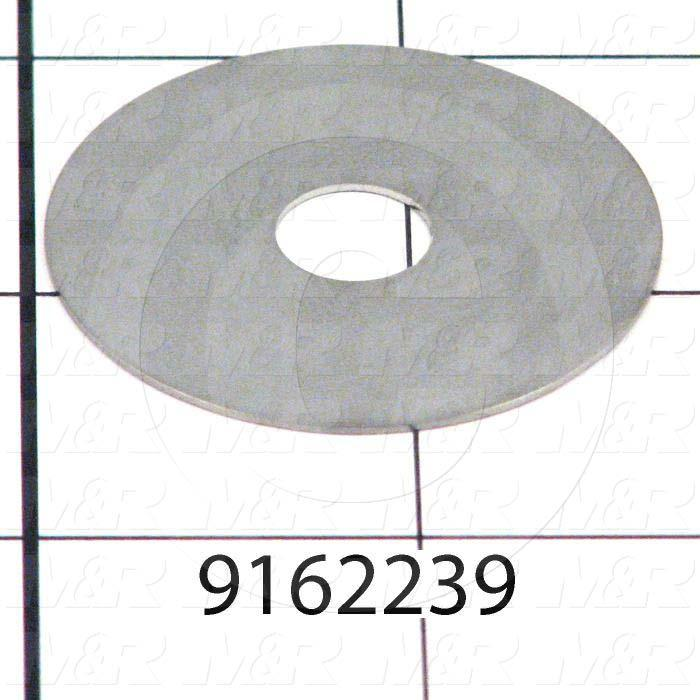 Fabricated Parts, Washer, 1.63 in. Diameter, 24 GA Thickness