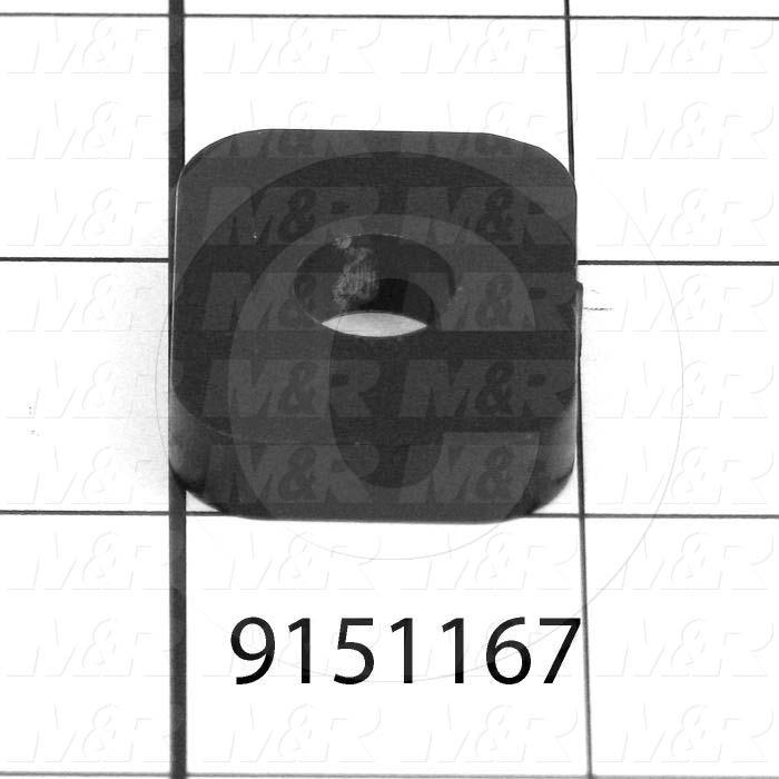 "Fabricated Parts, Washer 3/8""X 1-1/4""X 1/4"", 1.25 in. Length, 1.00 in. Width, 0.25 in. Thickness, Painted Black Finish"