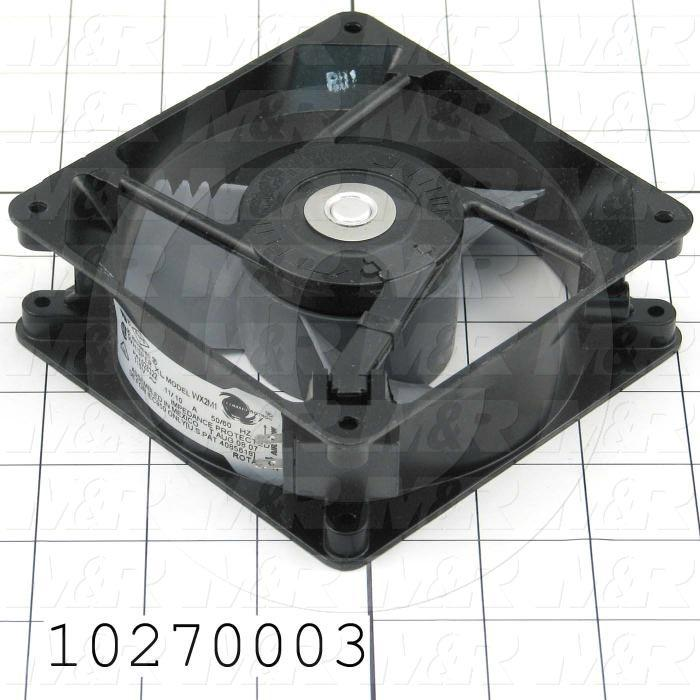 Fans, AC Fan, 115VAC, 50/60Hz, 64/72CFM