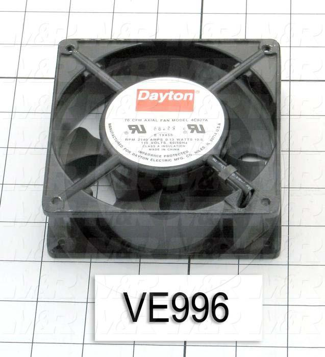 Fans, AC Fan, 115VAC, 50/60Hz, 70CFM