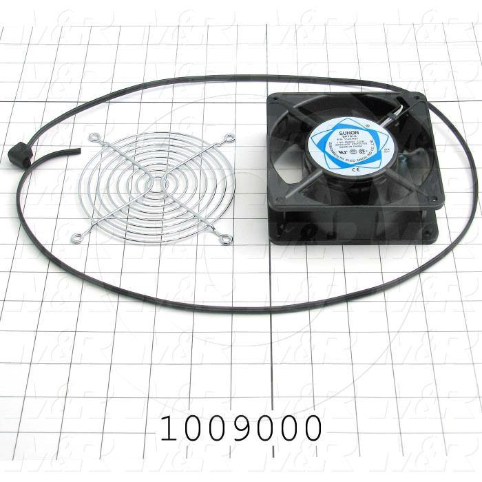 "Fans, AC Fan, 4"", 18W, 115VAC, 0.21A, 50/60Hz, with Guard, with Cord"