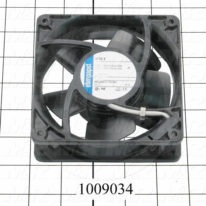 "Fans, AC Fan, 4.69"", 115VAC, 50/60Hz, 106CFM"