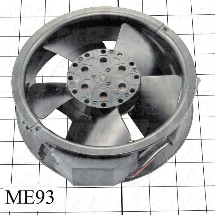 "Fans, Tube Axial Fan Set, 6"", 29W, 230VAC, 260CFM, Use For Hi Temperature Applications, With Thermal"