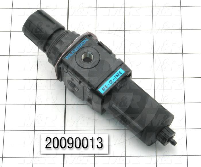 Filter - Regulator, 1/4 NPT Port Size, 1/8 NPT Gauge Port, Without Gauge, With Drain, Bracket Mounting Order