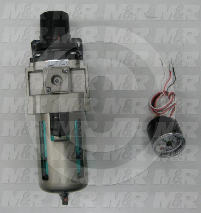 Filter - Regulator, 3/4 NPT Port Size, 1/4 NPT Gauge Port, Filter/Regulator/Pressure Switch Mounting Order