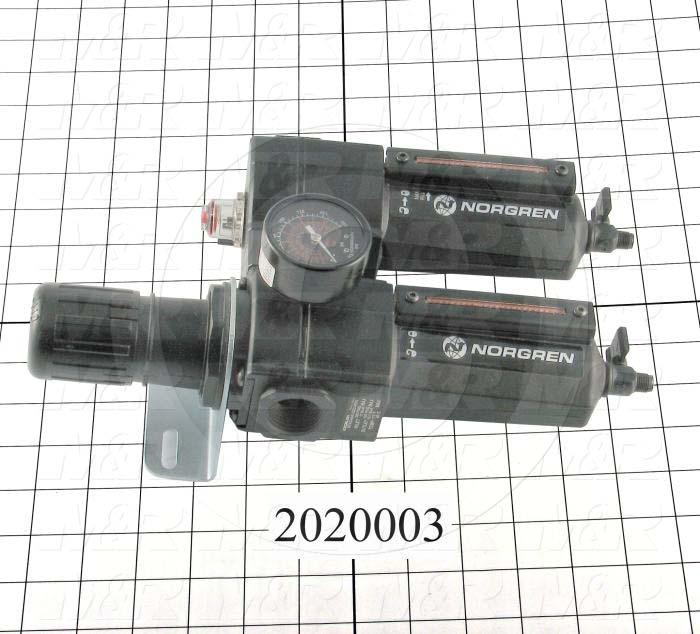 Filter - Regulator, 3/4 NPT Port Size, With Gauge, With Drain