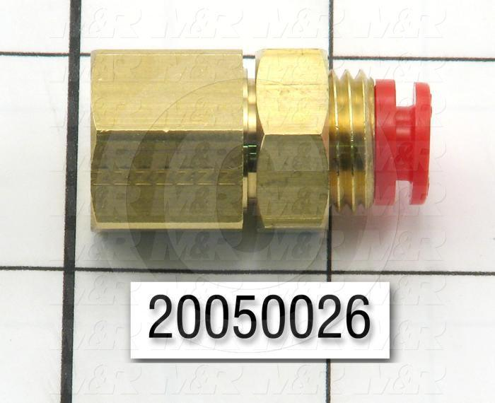 "Fitting, 1/4 NPT Port Size, Bulkhead Mounting Type, 1/4"" Tube OD, Straight, Female"