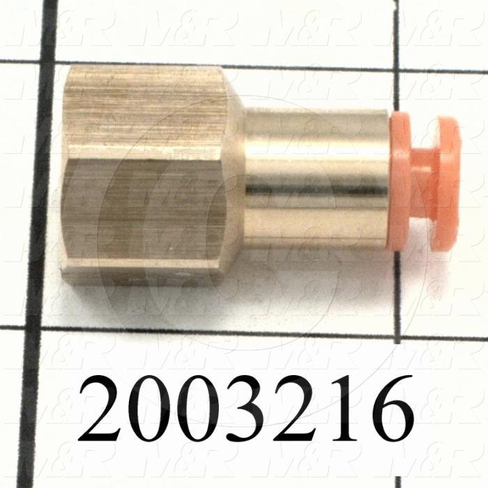 """Fitting, 1/8 NPT Port Size, Single Mounting Type, W/O Seal, 5/32"""" Tube OD, Straight, PT 1/8 Fitting In"""
