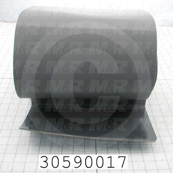 "Flat Conveyor Belt, Clipper Lacing, 12 Cleats 13.66 Centers, Gray, Gray, 12"" Width, 164"" Length"