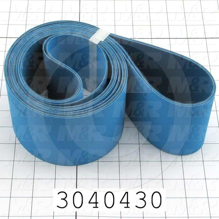 "Flat Conveyor Belt, Fine/Tex., Polyamide Fabric, Polyamide Fabric, Blue, Blue, 0.07"" Thickness, 3 in. Width, 92"" Length"