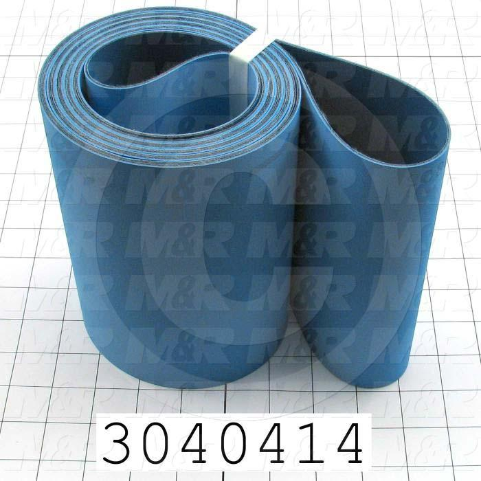 "Flat Conveyor Belt, Fine/Tex., Polyamide, Polyamide, Blue, Blue, 0.07"" Thickness, 7"" Width, 148.75"" Length"