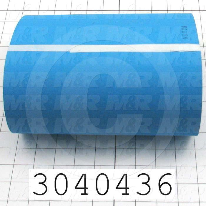 "Flat Conveyor Belt, Fine/Tex., Polyamide, Polyamide, Blue, Blue, 0.07"" Thickness, 9"" Width, 92"" Length"