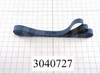 "Flat Conveyor Belt, Fine/Tex., Polyurethane, Polyurethane, Blue, Black, 0.05"" Thickness, 1"" Width, 108.313"" Length"