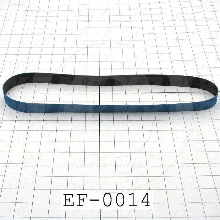 "Flat Conveyor Belt, Fine/Tex., Polyurethane, Polyurethane, Blue, Black, 0.05"" Thickness, 1"" Width, 35.00 Length"