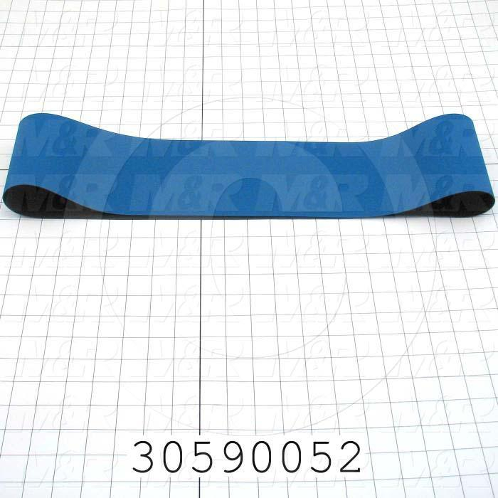 "Flat Conveyor Belt, Fine/Tex., Polyurethane, Polyurethane, Blue, Black, 0.05"" Thickness, 4.63"" Width, 45.75"" Length"