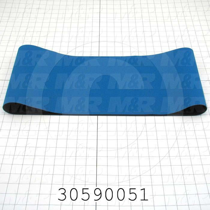 "Flat Conveyor Belt, Fine/Tex., Polyurethane, Polyurethane, Blue, Black, 0.05"" Thickness, 9"" Width, 45.75"" Length"