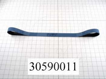 "Flat Conveyor Belt, Polyurethane, Polyurethane, Blue, Black, 0.05"" Thickness, 1"" Width, 45.5"" Length"