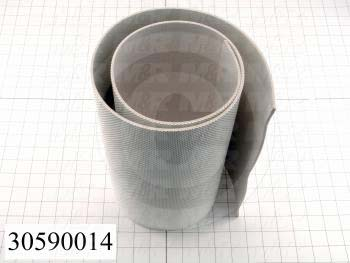 "Flat Conveyor Belt, PVC, Nylon Fabric, White, White, 0.11"" Thickness, 12"" Width, 45"" Length"
