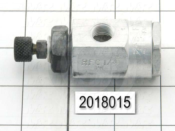 "Flow Control, Panel Mount Type, 1/4"" NPT Port In, 1/4"" NPT Port Out, Standard Control Type"
