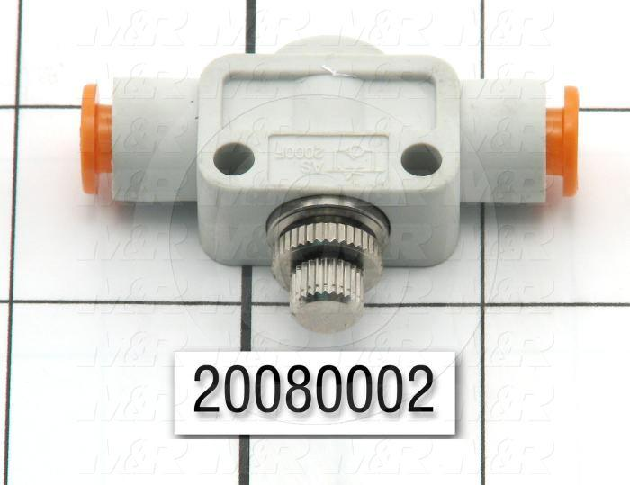 "Flow Control, Speed Controller Type, 1/4"" OD Port In, 1/4"" OD Port Out"