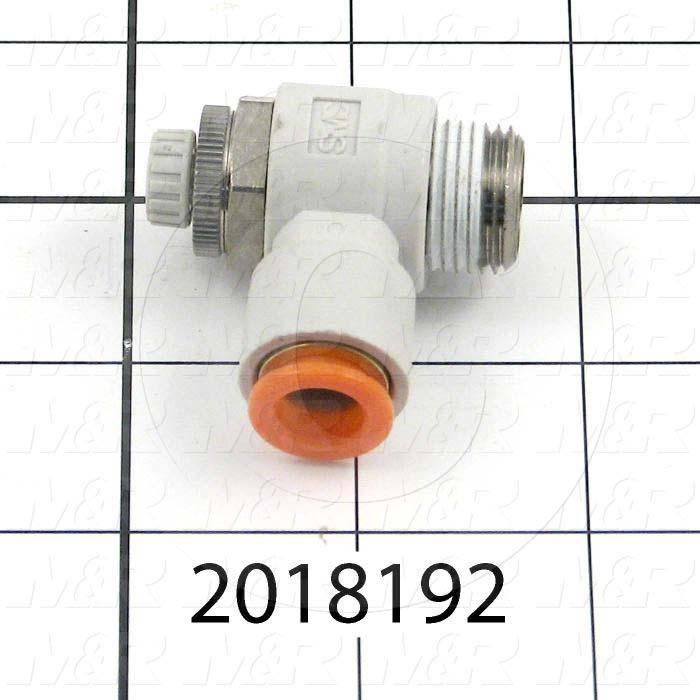 "Flow Control, Speed Controller Type, 3/8"" NPT Port In, 3/8"" OD Port Out, Meter Out Control Type, 920 l/min Flow Rate, W/Seal Option"