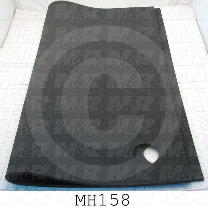 "Foam Pad, 34-3/4"", 42-7/8"", 1/2"", Polyester Foam, Used on HQ103 Vacuum Frame Assy., Charcoal Gray"