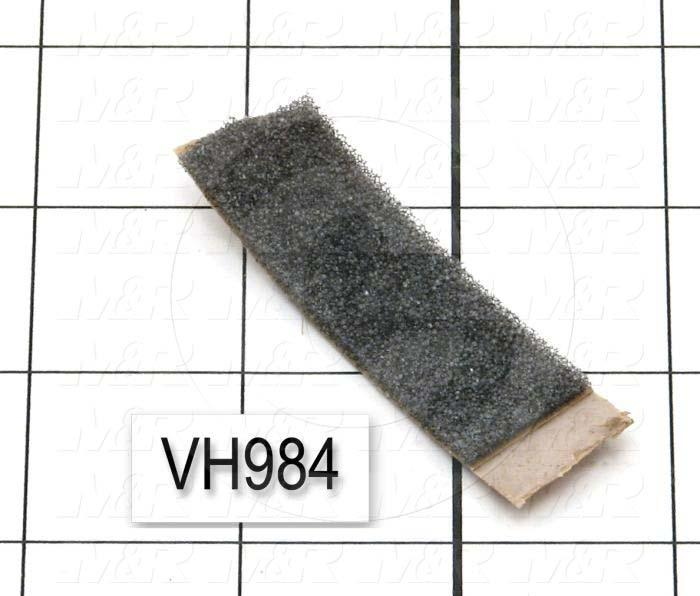 "Foam, Polyester Type, 3/4"" Width, 1/8"" Height, 1200"" Length, Adhesive 1 Side, Charcoal Gray"