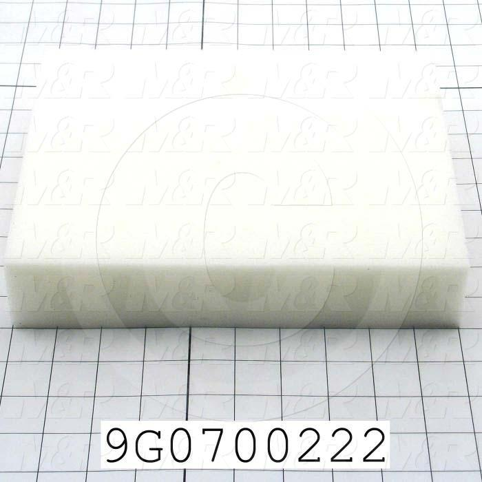 "Foam, Polyester Type, 8.00"" Width, 2.00"" Height, 10.00"" Length"