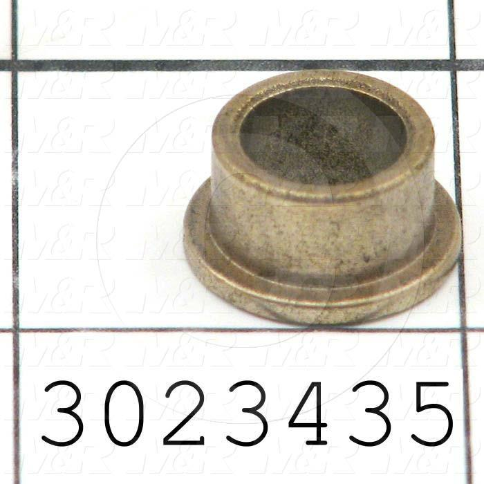"Friction Bearings, Flanged Type, Bronze Material, 0.38 in. Inside Diameter, 0.500"" Outside Diameter, 0.312"" Overall Length"