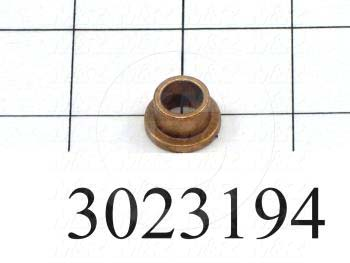 "Friction Bearings, Flanged Type, Bronze Material, 0.38 in. Inside Diameter, 0.500"" Outside Diameter, 0.38 in. Overall Length"