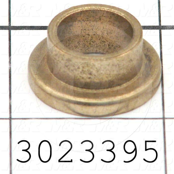 "Friction Bearings, Flanged Type, Bronze Material, 0.50 in. Inside Diameter, 0.625"" Outside Diameter, 0.875"" Flange Diameter, 0.125"" Flange Thickness, 0.38 in. Overall Length"