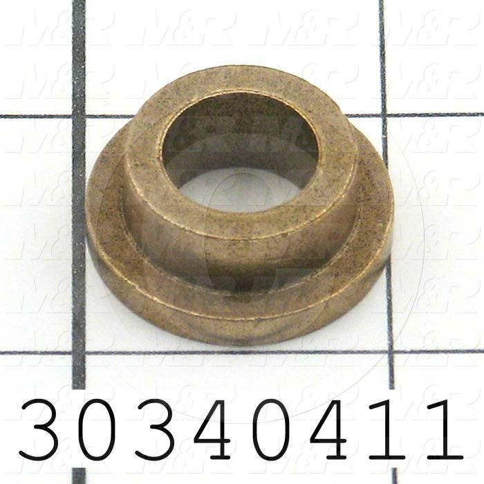 Friction Bearings, Flanged Type, Bronze Material, 0.50 in. Inside Diameter, 0.75 in. Outside Diameter, 1.000 Flange Diameter, 0.125 Flange Thickness, 0.38 Overall Length - Details