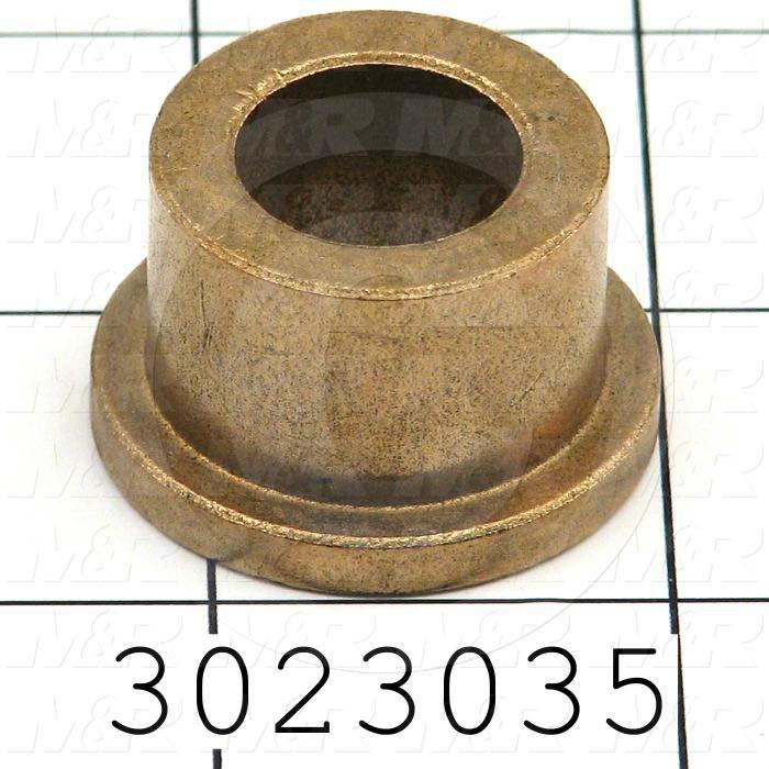 "Friction Bearings, Flanged Type, Bronze Material, 0.625 in. Inside Diameter, 0.875"" Outside Diameter, 1.125"" Flange Diameter, 0.156"" Flange Thickness, 0.750"" Overall Length"