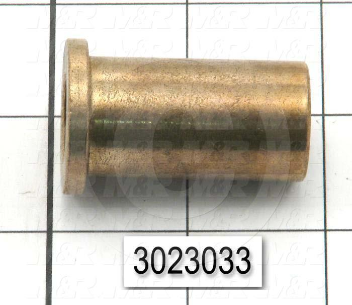 "Friction Bearings, Flanged Type, Bronze Material, 0.625 in. Inside Diameter, 0.875"" Outside Diameter, 1.125"" Flange Diameter, 0.156"" Flange Thickness, 1.75"" Overall Length"