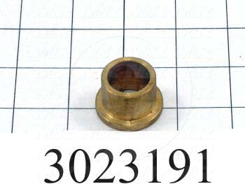 "Friction Bearings, Flanged Type, Bronze Material, 0.75 in. Inside Diameter, 1.00"" Outside Diameter, 0.750"" Overall Length"