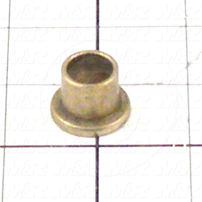"Friction Bearings, Flanged Type, Bronze Oil-Impregnated Material, 0.50 in. Inside Diameter, 0.625"" Outside Diameter, 0.875"" Flange Diameter, 0.125"" Flange Thickness, 0.625"" Overall Length"