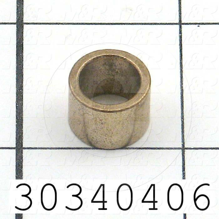 Friction Bearings, Plain Cylindrical Type, Bronze Material, 0.38 Inside Diameter, 0.500 Outside Diameter, 0.50 Overall Length - Details