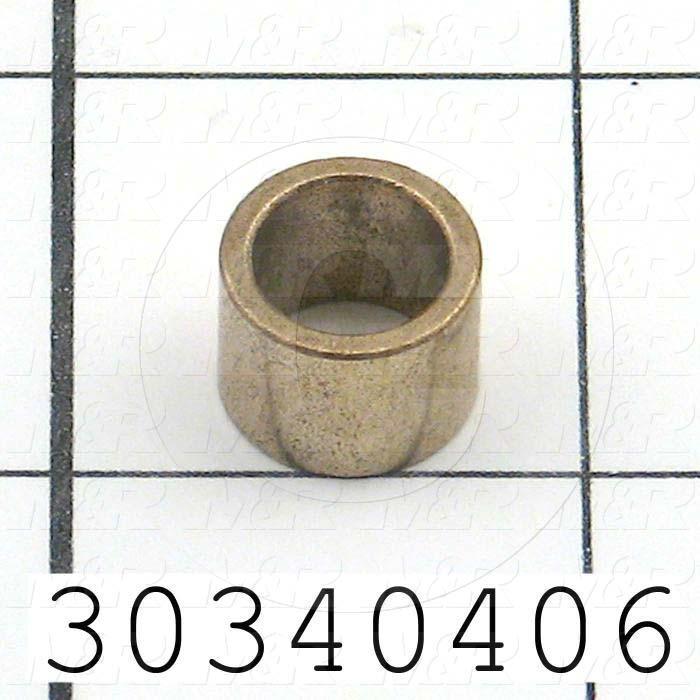 "Friction Bearings, Plain Cylindrical Type, Bronze Material, 0.38 in. Inside Diameter, 0.500"" Outside Diameter, 0.50 in. Overall Length"