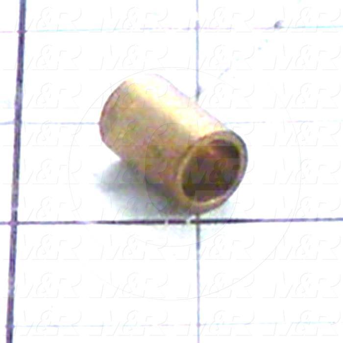 "Friction Bearings, Plain Cylindrical Type, Bronze Material, 0.38 in. Inside Diameter, 0.500"" Outside Diameter, 0.750"" Overall Length"