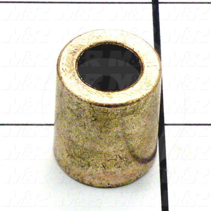 "Friction Bearings, Plain Cylindrical Type, Bronze Material, 0.38 in. Inside Diameter, 0.625"" Outside Diameter, 0.750"" Overall Length"