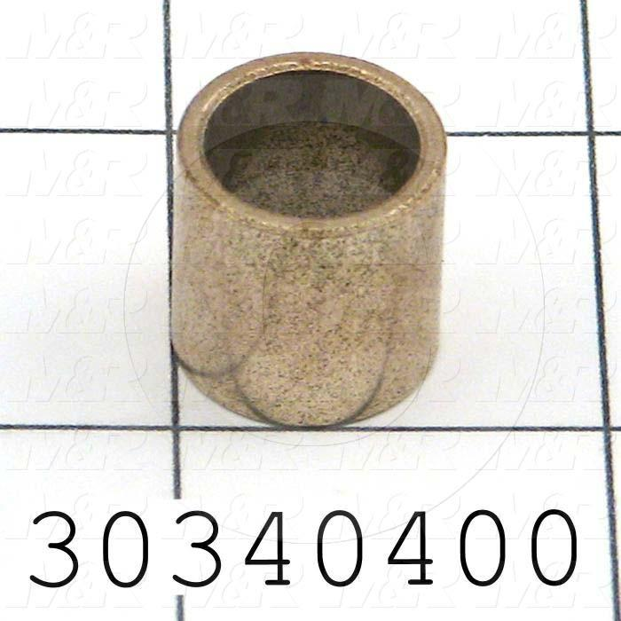 Friction Bearings, Plain Cylindrical Type, Bronze Material, 0.50 in. Inside Diameter, 0.625 Outside Diameter, 0.625 Overall Length - Details