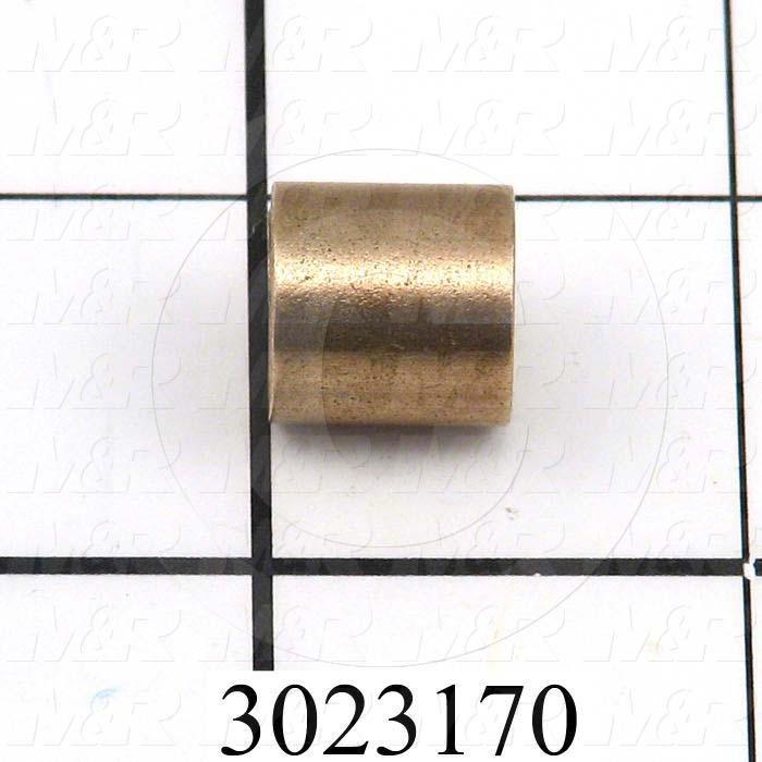 "Friction Bearings, Plain Cylindrical Type, Bronze Oil-Impregnated Material, 0.38 in. Inside Diameter, 0.500"" Outside Diameter, 0.50 in. Overall Length"
