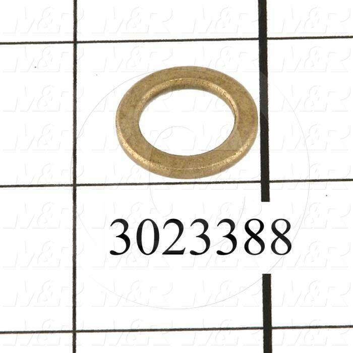 Friction Bearings, Trust Type, Bronze Oil-Impregnated Material, 0.50 in. Inside Diameter, 0.875 Outside Diameter, 0.062 Thickness - Details