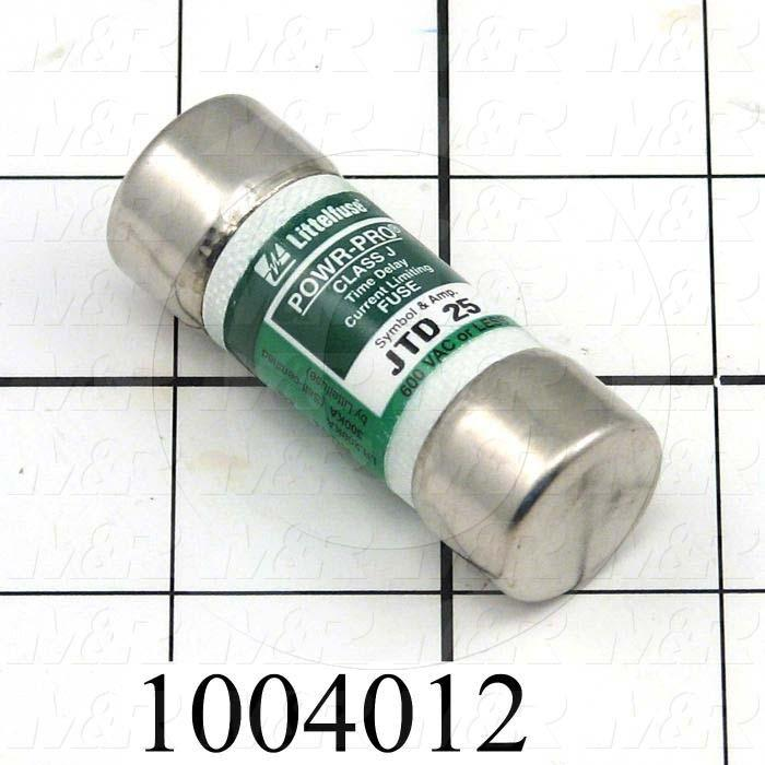 Fuse, J, 600VAC, 25A, Time Delayed