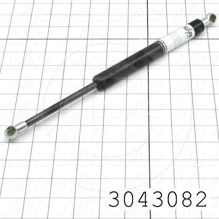 Gas Spring, 305 mm Extended Length, Ball Connector, 13 mm Ball Connector Diameter, 600 +/- 33n - Details