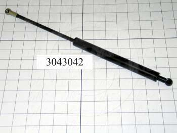 Gas Spring, 387.5 MM Extended Length, 312 MM Compressed Length, Ball Connector, 10 MM Ball Connector Diameter, 730 N - Details